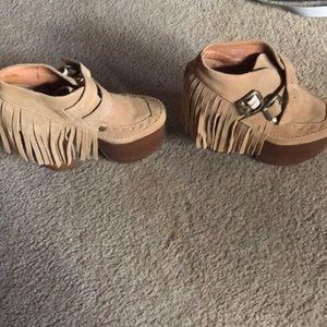 Jeffrey Campbell Fringe platform shoes!